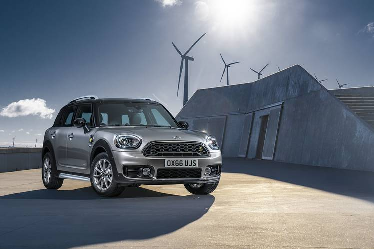POWER STRUGGLE Mini's new PHEV is quick off the line, but its minuscule 12 miles of EV range disappoints.