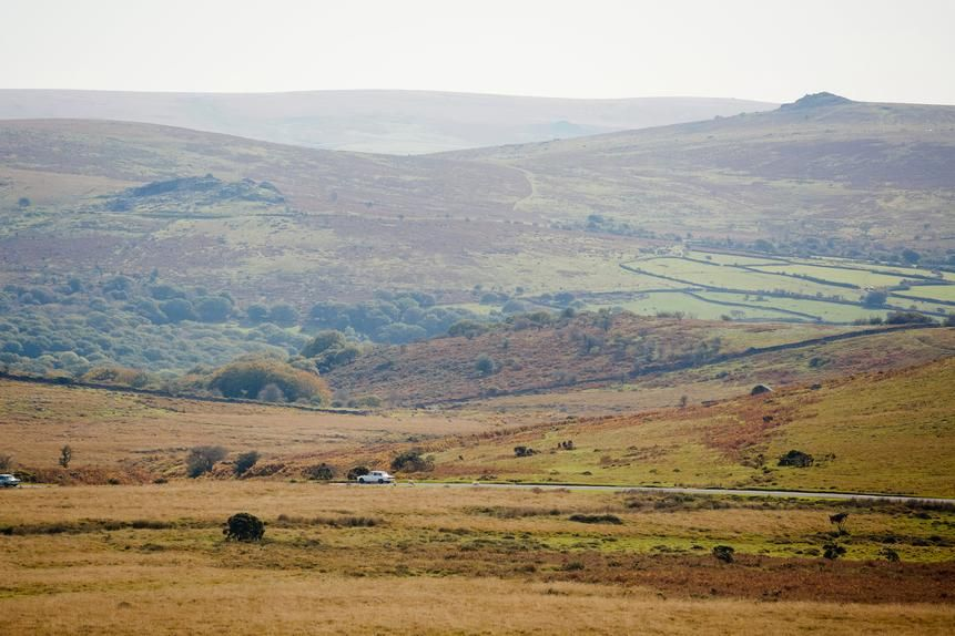 Dartmoor is more than 350 square miles of gently rolling hilltops topped with granite outcroppings.