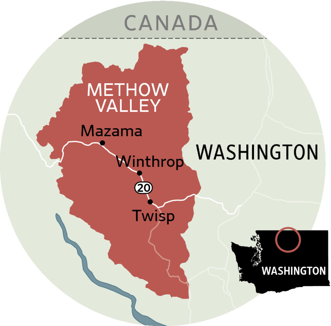 Methow Valley is some 200 miles east of Seattle, part of a remote wilderness.