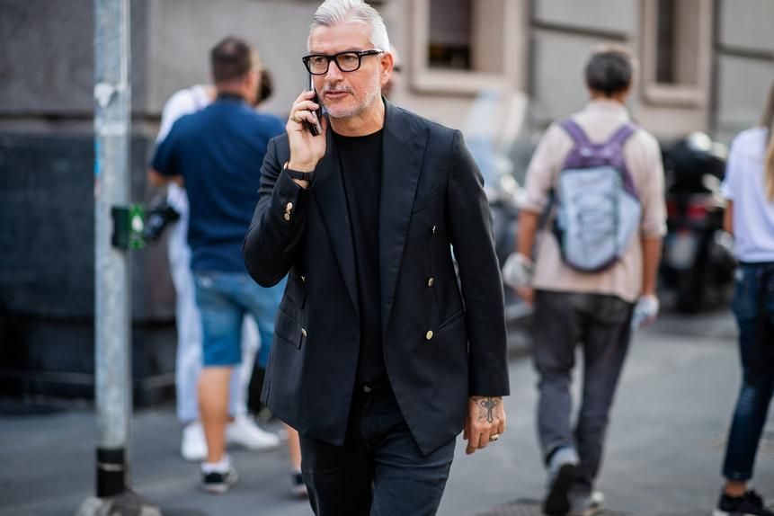 Domenico Gianfrate, the owner of a fashion showroom in Italy, has a decent sized tattoo on each hand.