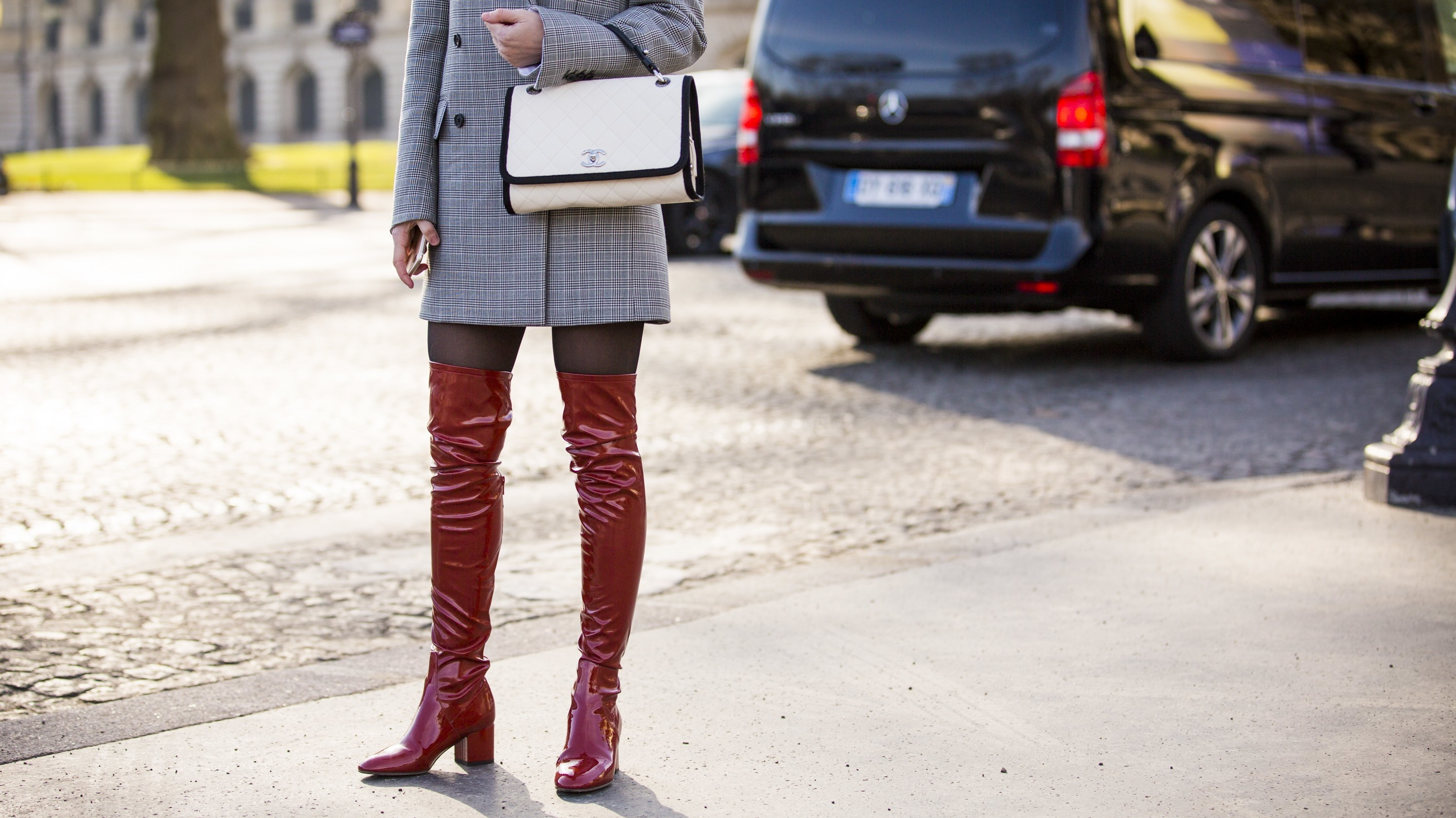 1bf5cd48c Tall boots, particularly thigh-high styles, are very in. Which could have  something to with pants being very out. Just two weeks ago Prada and Gucci  sent ...