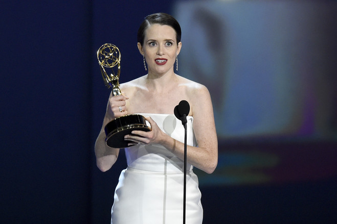Claire Foy won the Emmy for outstanding lead actress in a drama series for 'The Crown' last month.
