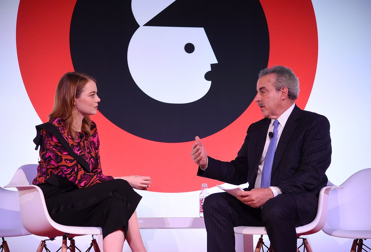 Emma Stone and Dr. Harold S. Koplewicz for the Child Mind Institute in New York City.