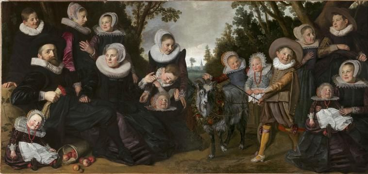 Proposed reconstruction of Frans Hals's complete 'The Van Campen Family in a Landscape' (c. 1623-25)
