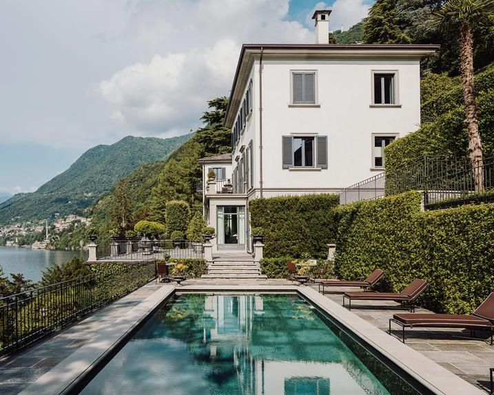 COMO OVER The pool overlooking Lake Como at Ruffini's house.