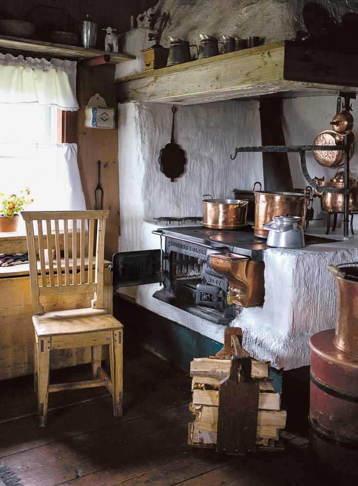 KITCHEN CONFIDENTIAL Interior of a traditional north Sweden mountain farmhouse, summer 2014.