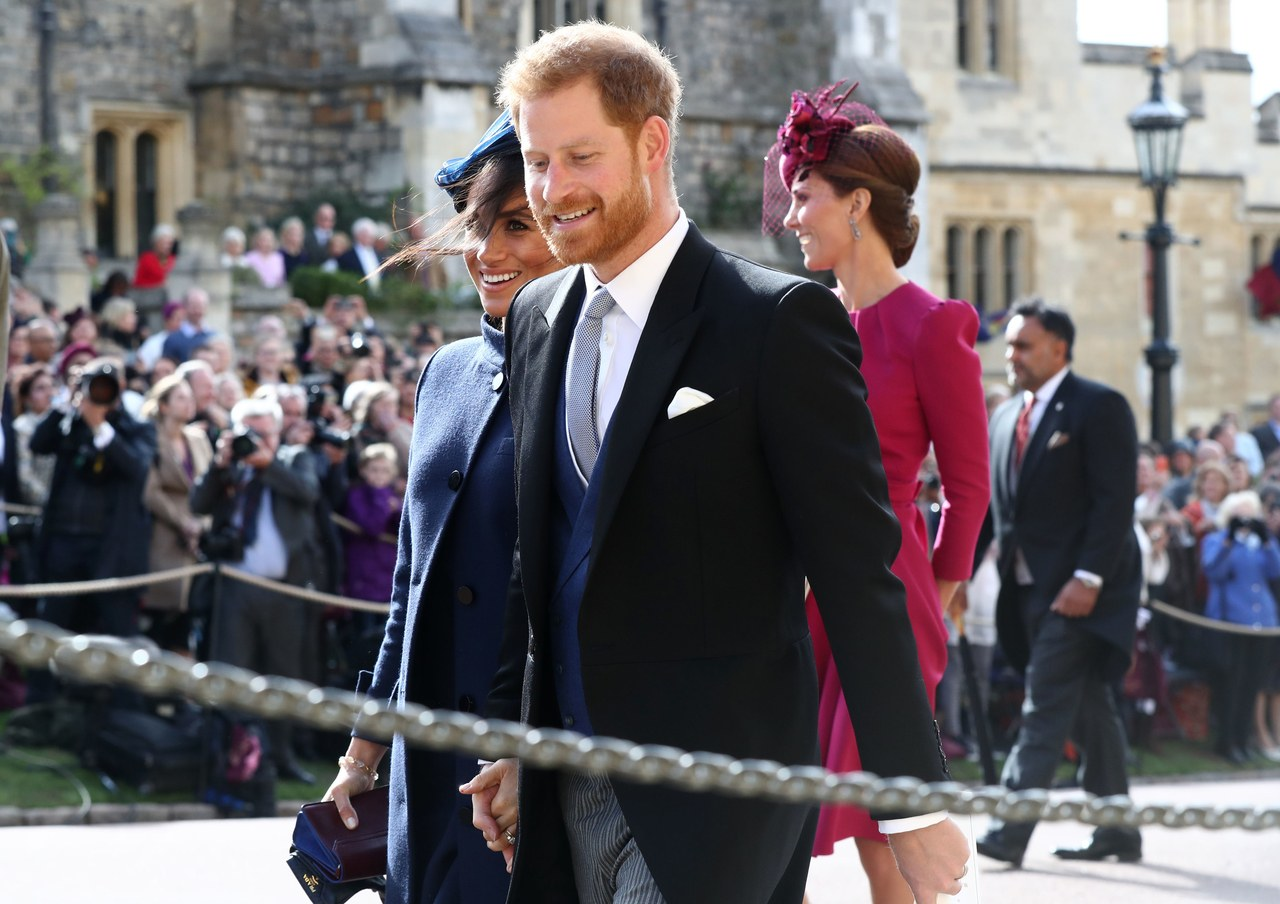 Meghan & Harry Couldn't Be More Adorable at Princess Eugenie's Wedding 1