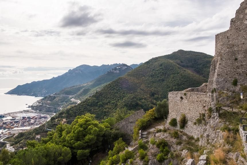 View from Castello di Arechi, former home of Prince Siconolfo, the author's ancestor.