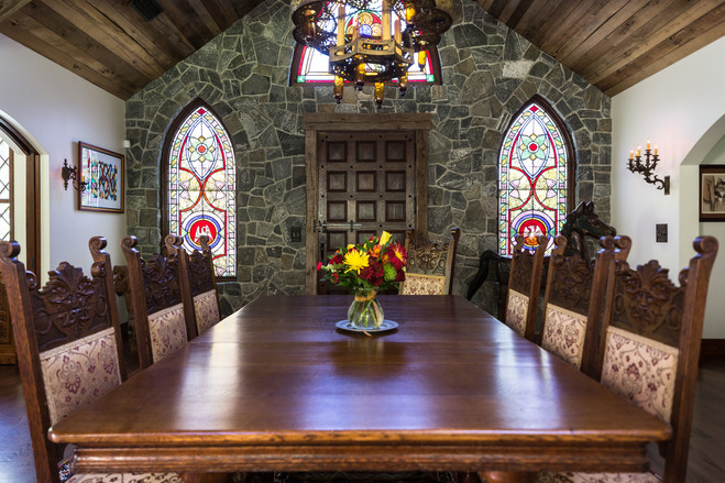 Todd and Debbie Martin paid $4,000 for seven stained-glass windows—and $15,000 to retrofit and install them—in their Tiverton, R.I. home.