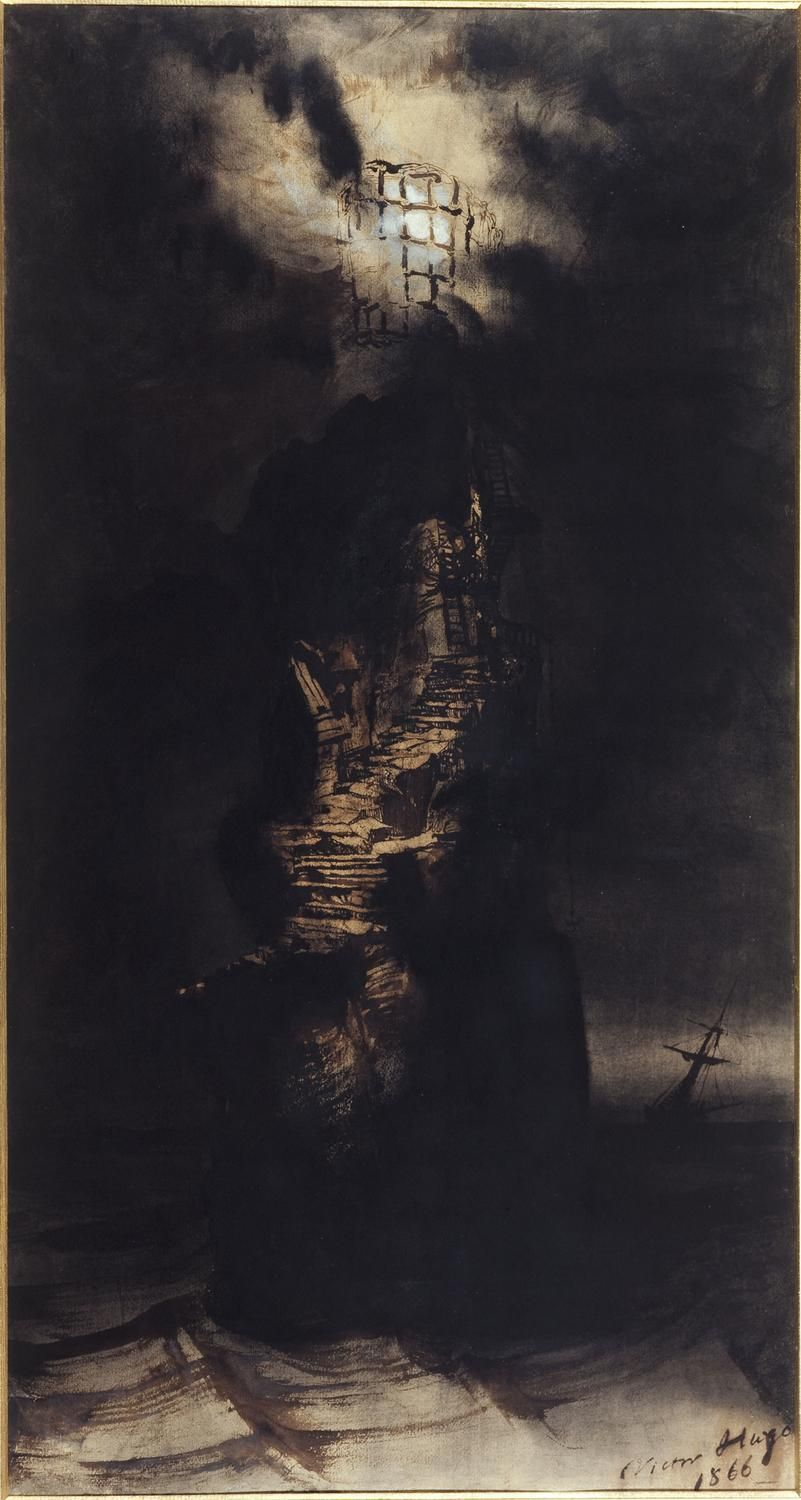 Victor Hugo's 'The Casquets Lighthouse' (1866)