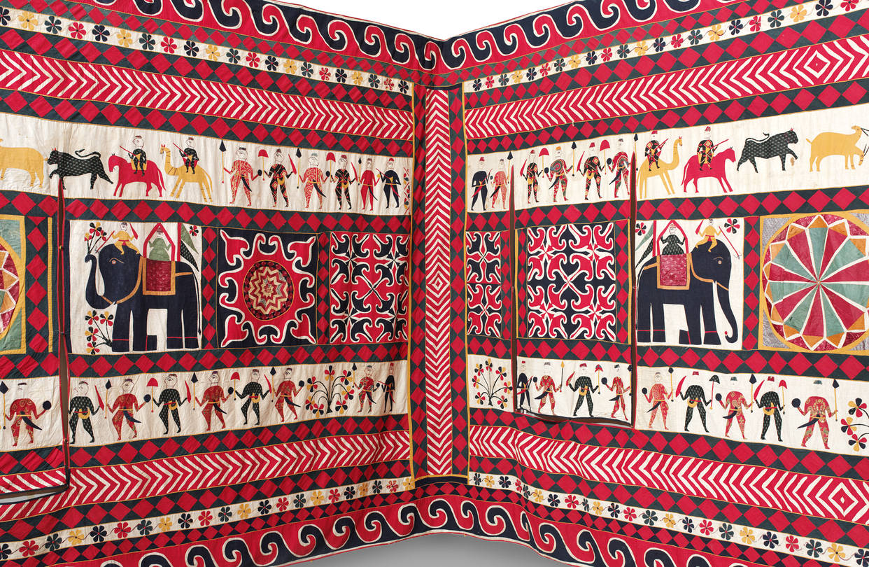 Detail of a wall hanging from Gujarat (1920-40)