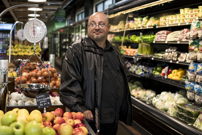 ProMedica patient Michael Belair, seen shopping at Market on the Green, sought advice on nutrition.