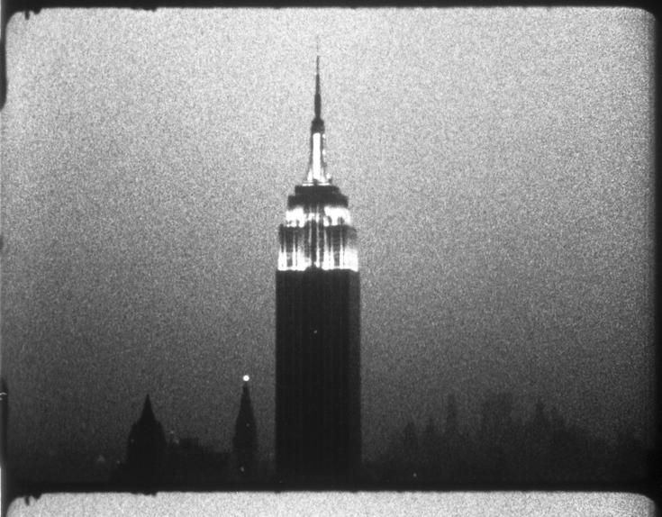 An image from Andy Warhol's film 'Empire' (1964)