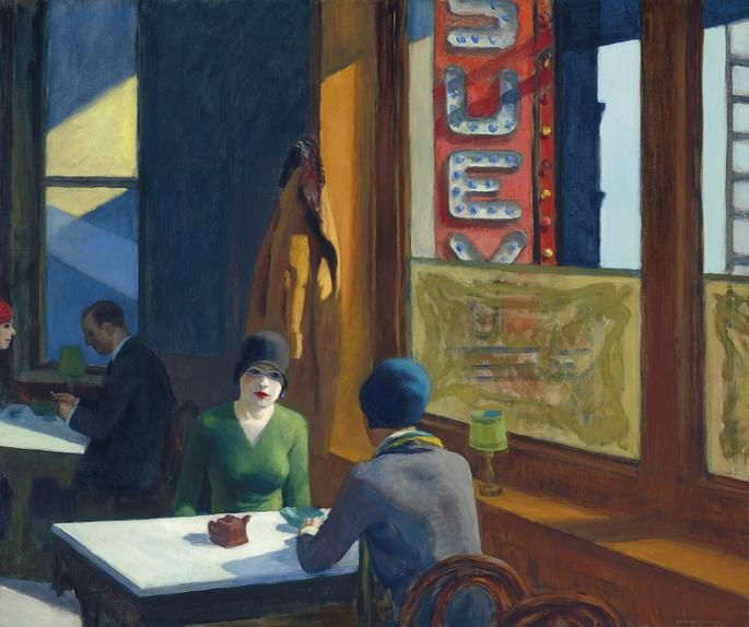 Edward Hopper, 'Chop Suey,' estimated to sell for $70 million to $100 million.
