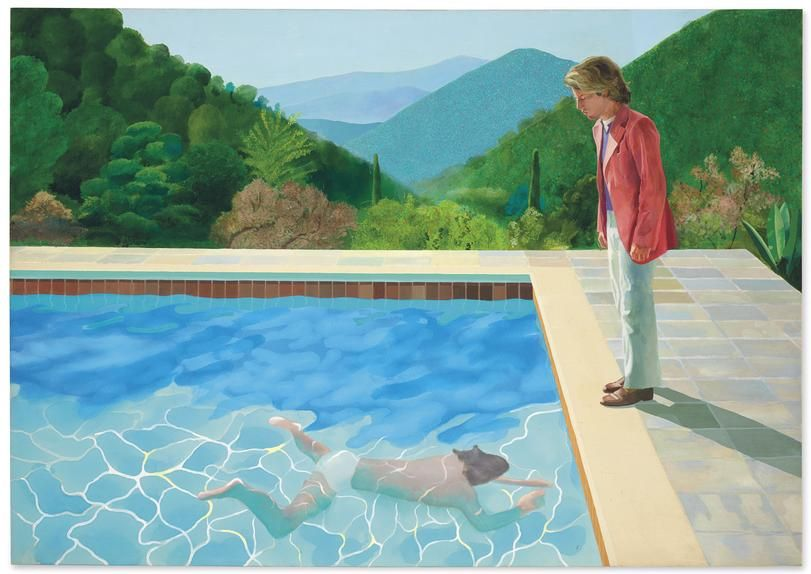 Christie's aims to sell David Hockney's 'Portrait of an Artist (Pool With Two Figures)' for $80 million. If it surpasses $58.4 million, Mr. Hockney will reset Jeff Koons's record for most-expensive artwork auctioned by a living artist.