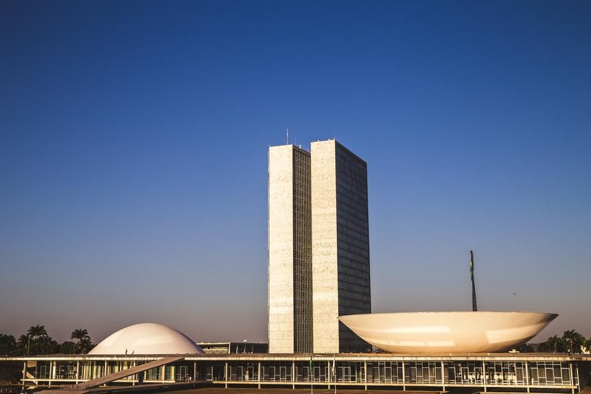 Niemeyer's National Congress Palace has become a symbol of Brazil.