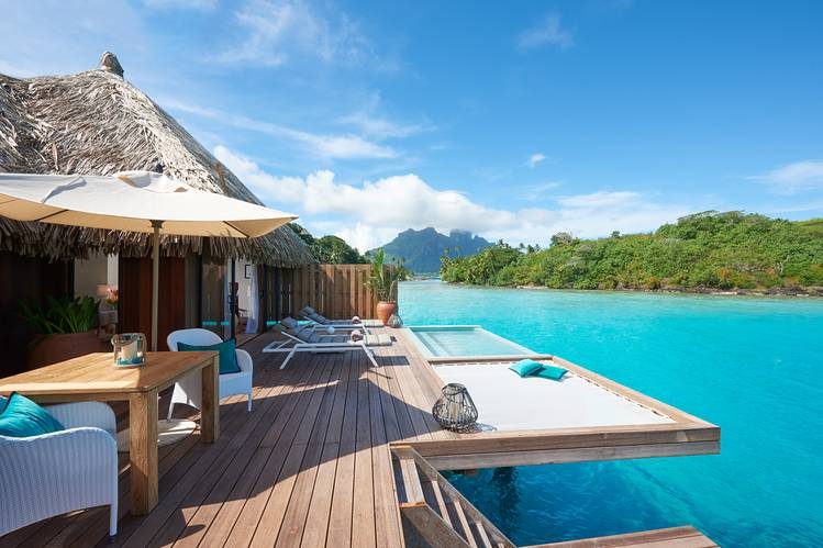 DOUBLE DIP An overwater villa with plunge pool at Conrad Bora Bora Nui.