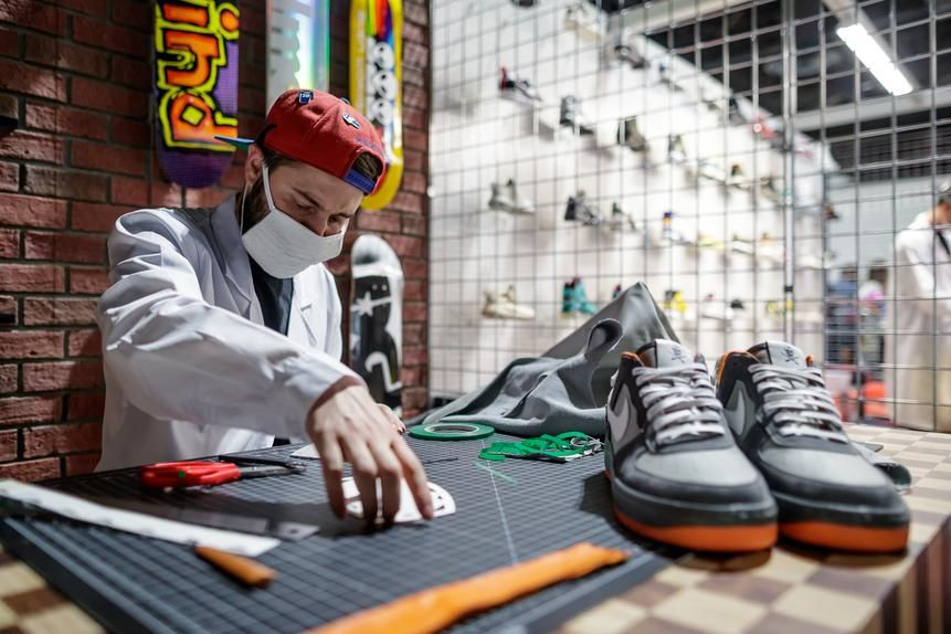 Rare sneakers, such as these Nike Dunks, were the big draw of ComplexCon.
