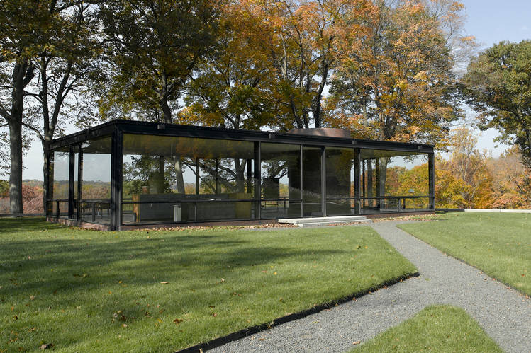 Philip Johnson's Glass House in New Canaan, Conn.