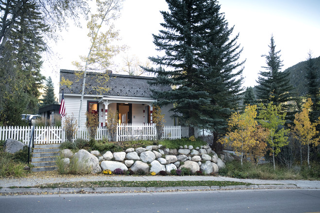 Ann and Don Short own a 720-square-foot, 1886 miner's cabin near downtown Aspen.