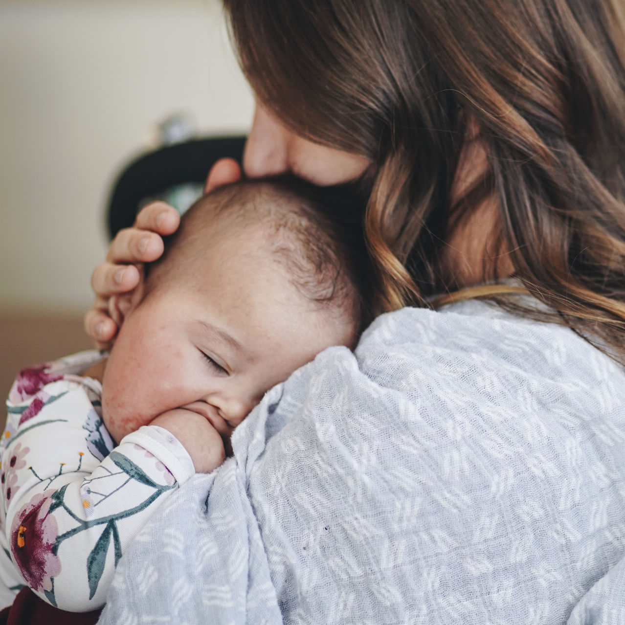 Katelyn Hodgson cradles her daughter, Frances, during a recent meeting of a group treatment program for perinatal anxiety at St. Joseph's Healthcare Hamilton in Hamilton, Ontario.