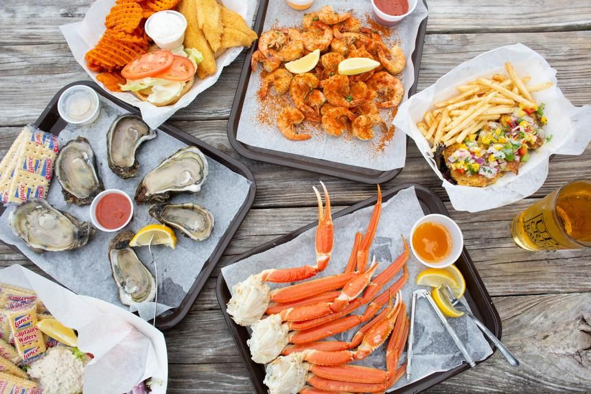A few of the offerings at Up the Creek raw bar.