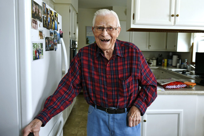 Mr. Jaster, a native of Cavalier, owned the local furniture store and was chief of the fire department. He and his wife, Bev, live in the house they built in what was then a wheat field.