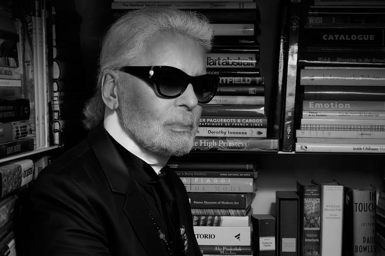 Mr. Lagerfeld photographed by his favorite photographer, Mr. Lagerfeld.