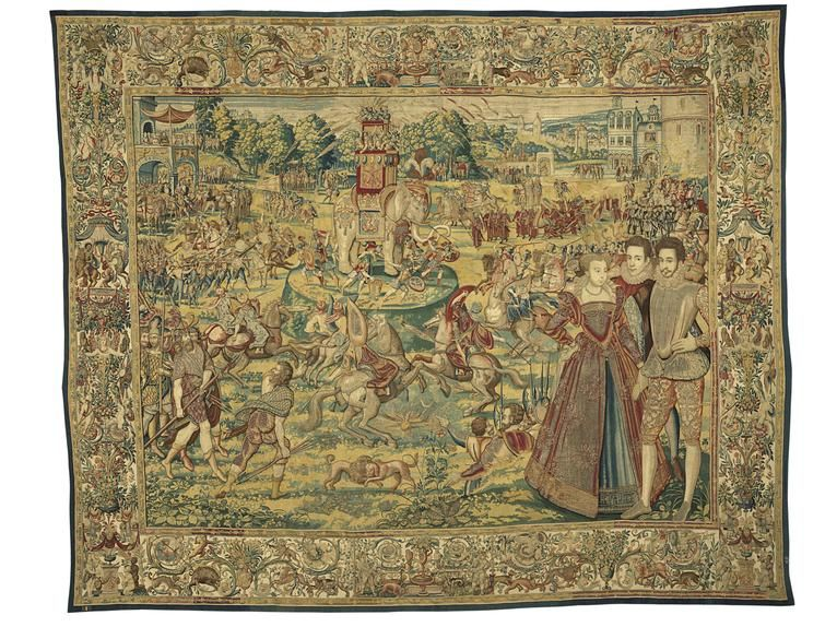 'Elephant,' from the Valois Tapestries, c. 1576.