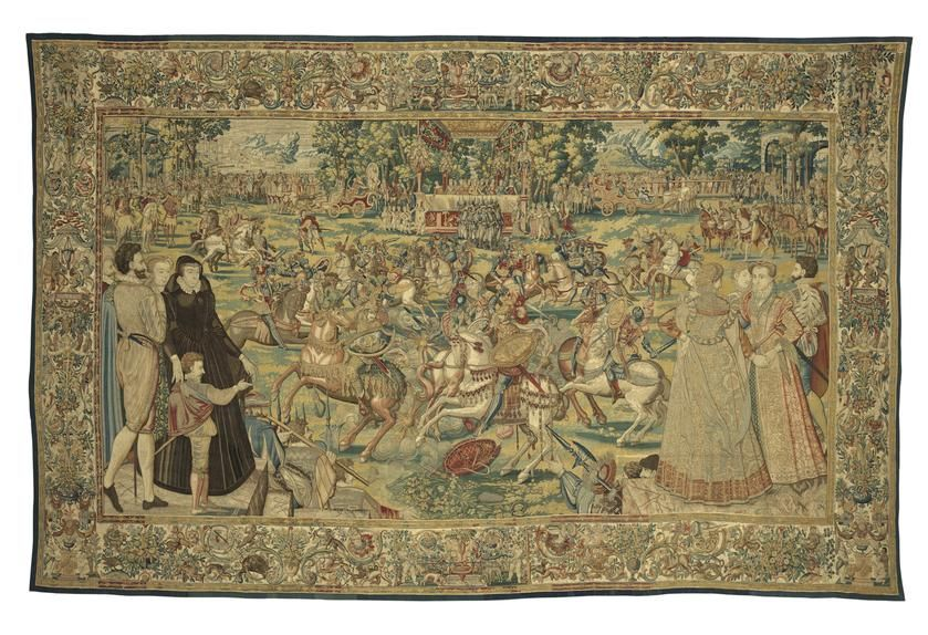 'Tournament' from the Valois Tapestries, c. 1576.