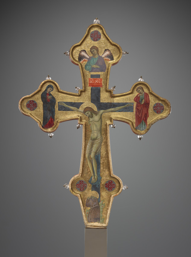 Double-sided processional cross (c. 1310), by the Master of the Gubbio Cross