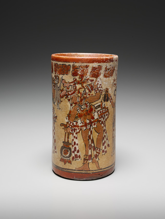 Vessel with gods of drunkenness from Guatemala or Mexico (600-900)