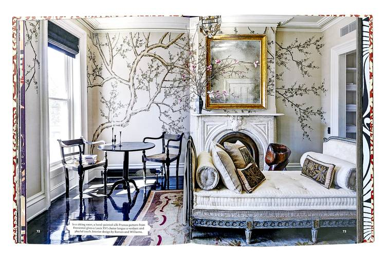 FANCY BRANCH In 'The Power of Pattern' (Rizzoli) author Suzanna Salk chose a living room by New York design firm Roman and Williams to illustrate her chapter on motifs drawn from nature.
