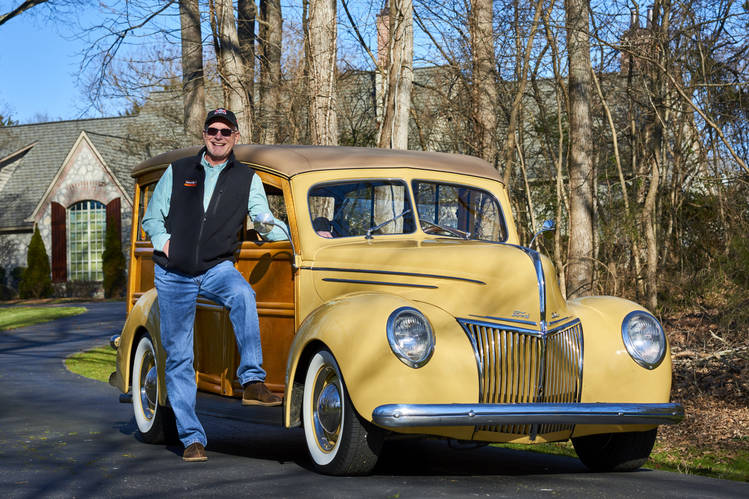 Tom Cotter, author and host of 'The Barn Find Hunter' YouTube show, with his 1939 Ford Deluxe, at his home in Davidson, N.C. Mr. Cotter first bought this car when he was 15, for $300.