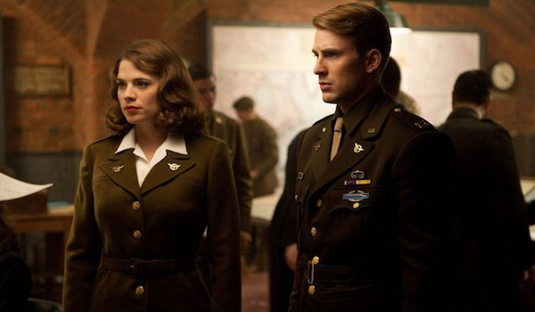 Peggy Carter and Steve Rogers in Captain America: The First Avenger