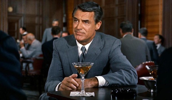 North By Northwest Cary Grant ready to drink a Manhattan