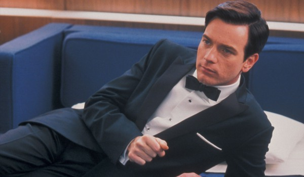 Down With Love Ewan McGregor lounging in a sharp tuxedo