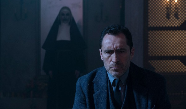 Demian Bichir and Bonnie Aarons in The Nun