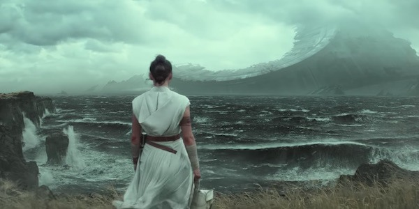 Rey looking at Death Star in Star Wars: The Rise of Skywalker
