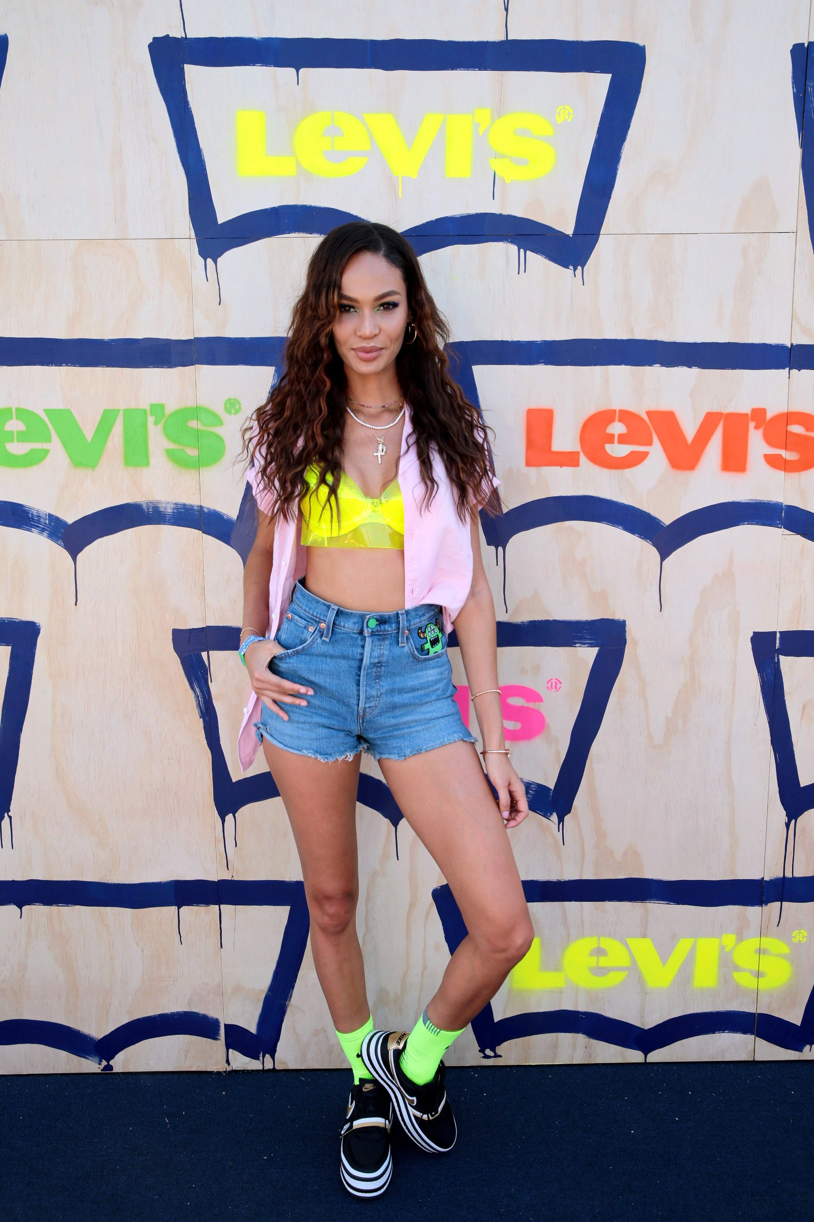 Joan Smalls is seen at the Levi's Party in the Desert on Saturday April 13 2019 in Indian Wells Calif.