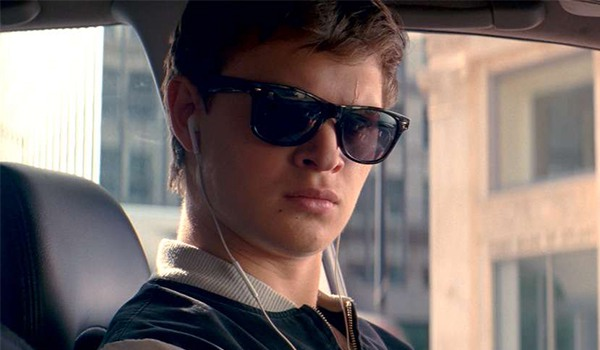 ansel Elgort's sunglasses in Baby Driver