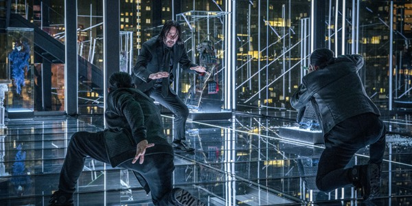 John Wick Chapter 3 Parabellum John Wick (Keanu Reeves) fighting two dudes