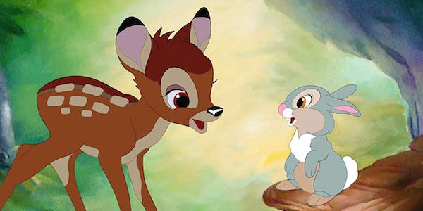 Bambi and Thumpter sharing a gentler, earlier moment in their lives