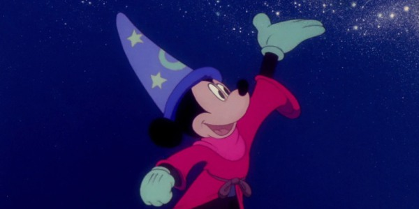 Mickey Mouse as the The Sorcerer's Apprentice in Fantasia 1940