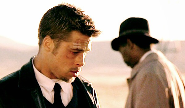 Brad Pitt and Morgan Freeman in Seven