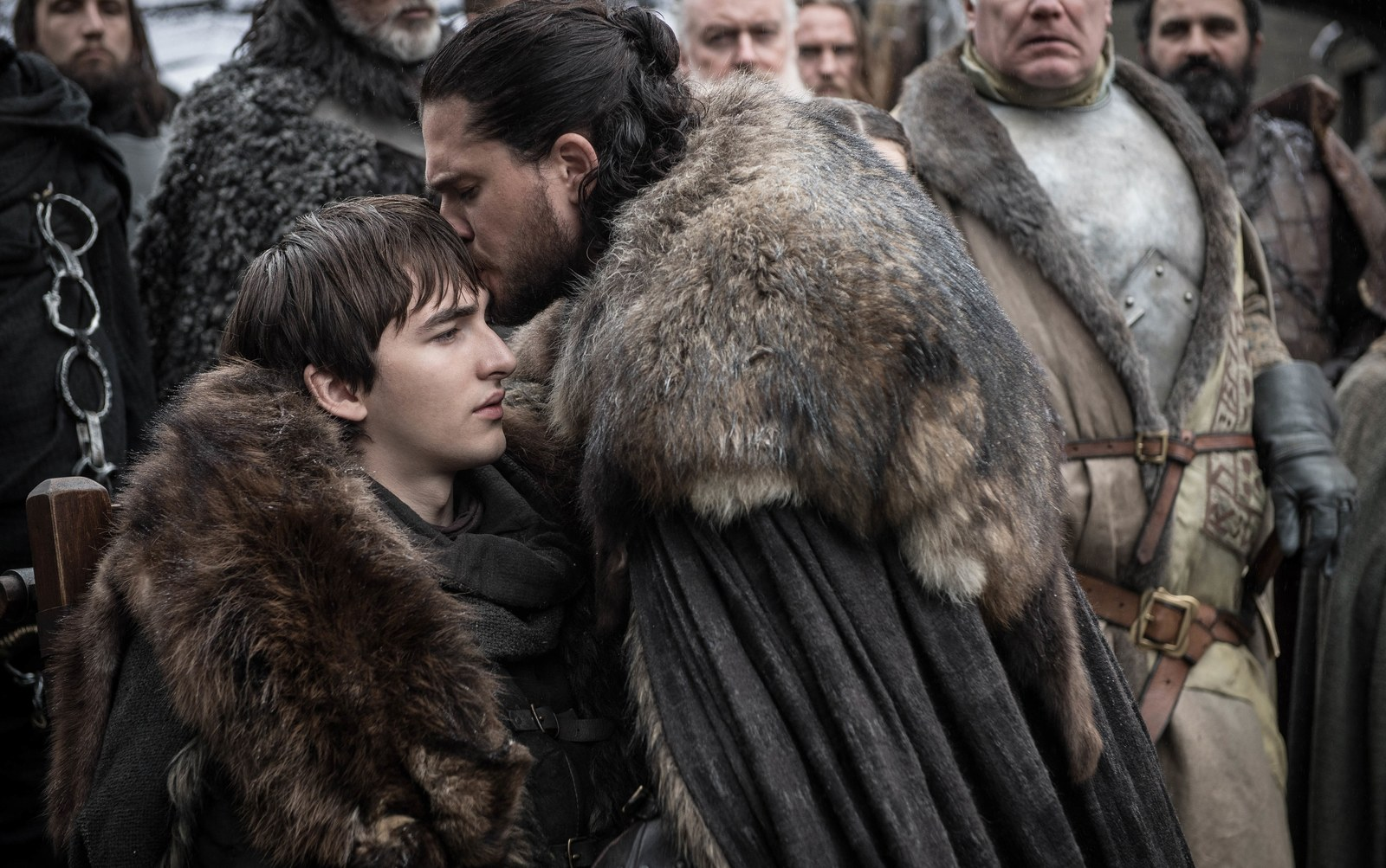 Bran Stark and Jon Snow on HBO's Game of Thrones
