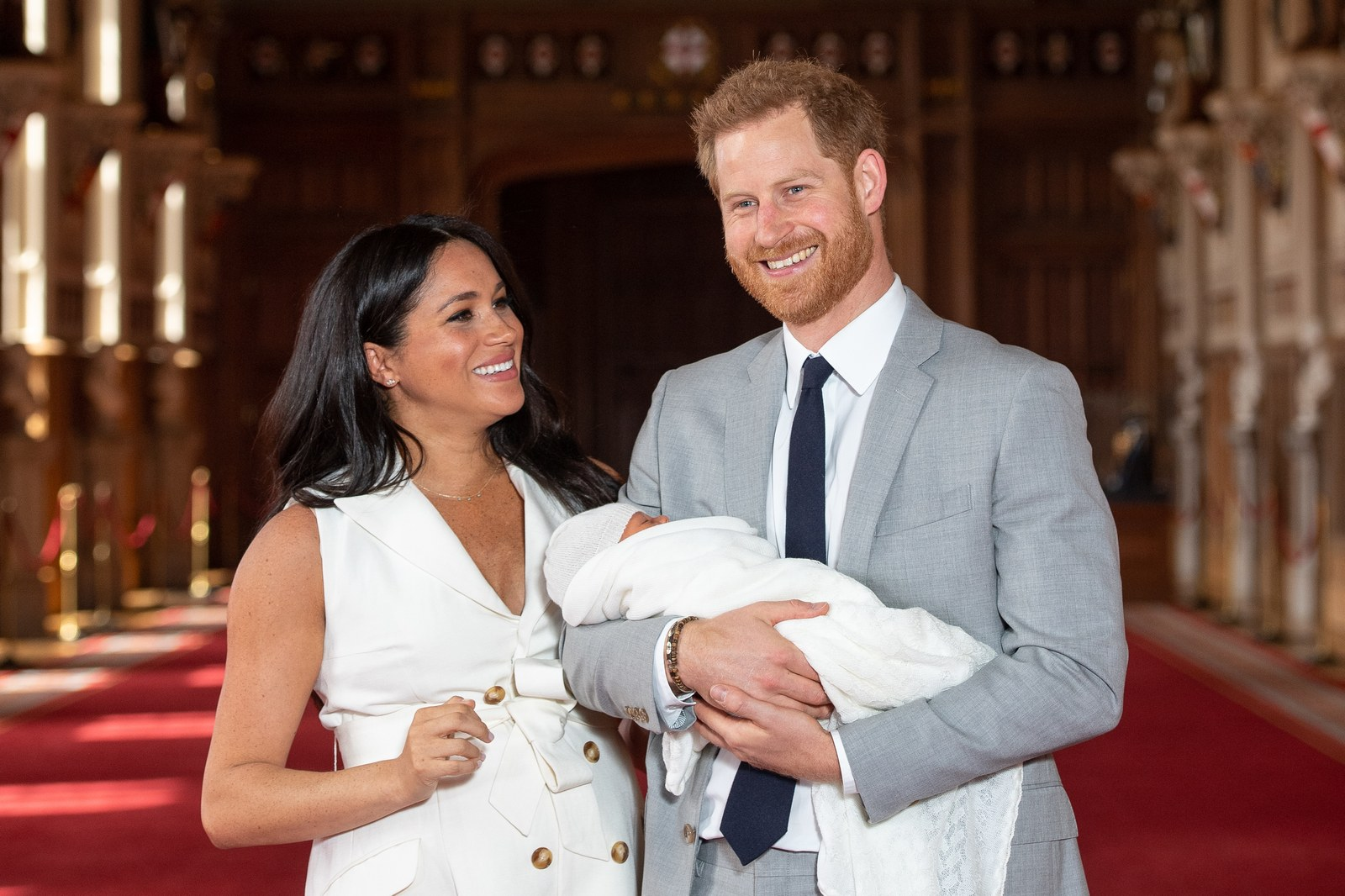 Meghan Markle Prince Harry and Baby Archie on May 8 2019.