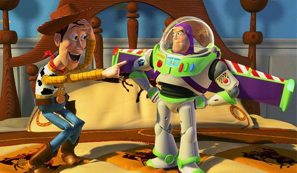 Woody and Buzz in Toy Story