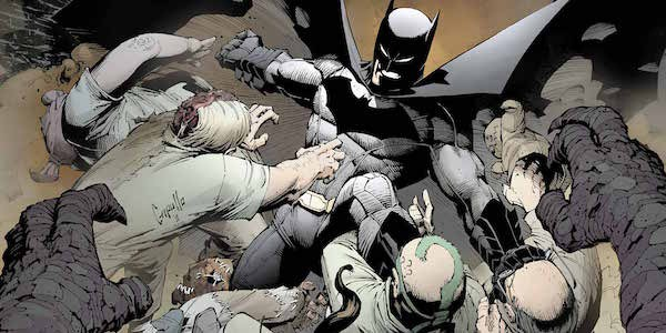 Batman fighting villains in New 52 comics