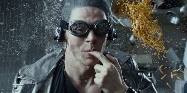 Evan Peters as Quicksilver Time in a Bottle scene X-Men: Days of Future Past